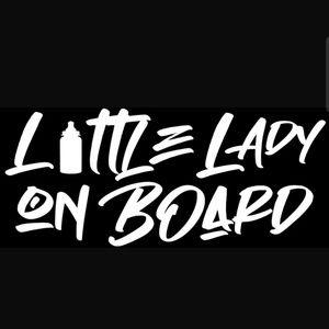 Little lady on board decal sticker baby on board